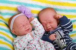 Realistic Reborn baby twins boy and girl preemie with beauti