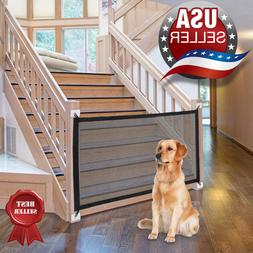 Retractable portable gate for pet dog cat, safe babies indoo