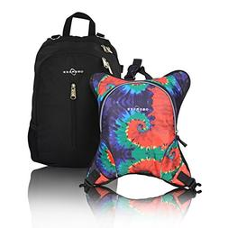 Obersee Rio Diaper Bag Backpack with Detachable Cooler, Tie
