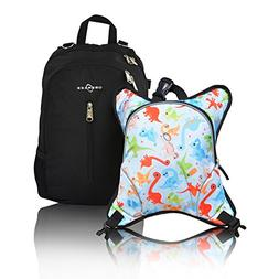Obersee Rio Diaper Bag Backpack with Detachable Cooler, Dino