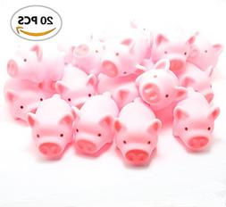 Meeall Rubber Pig Baby Bath Toy for Kid,20 PCS