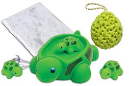 "Rubber Turtle Family Bath Toy Set - 6"" Non-Phthalate Vinyl T"