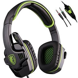 Sades SA-708 PC Gaming Headset 3.5mm Stereo Computer Over Ea