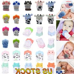 Safety Teether Molar Gloves For Baby Kid Safe Fingers Soft T