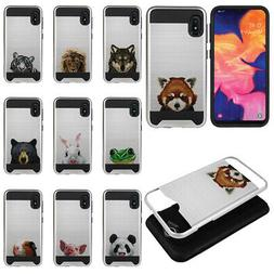 "For Samsung Galaxy A10e A102U 5.83"" Animal Design Hybrid Bru"