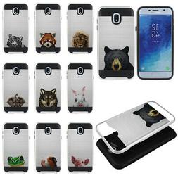 For Samsung Galaxy J7 J737/Refine 2018 Animal Design Hybrid