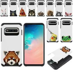 "For Samsung Galaxy S10 G973 6.1"" Animal Hybrid Bumper Protec"