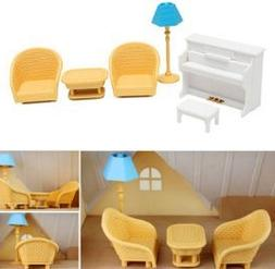 Set Piano Sofa Lamp for Sylvanian Families Furryville Calico