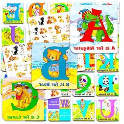 "Animal ABC Board Books Set Toddlers Babies -- Pack of 24 ""My"