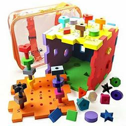 Skoolzy Shape Sorter Montessori Toys for Toddlers - Shapes P