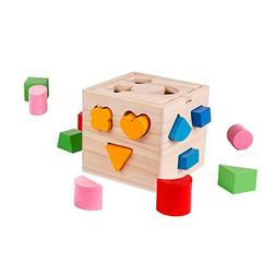 Shape Sorter Toy with 15 Holes My First Wooden Toys Shapes a