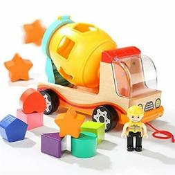 TOP BRIGHT Shape Sorter Toy Trucks for 1 2 Year Old Boy Girl