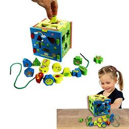 Dazzling Toys Baby Shape and Color Wooden Sorter Cube. Great