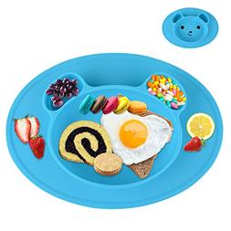 Silicone Baby Plate Safe Feeding Placemat Tray For Toddler K