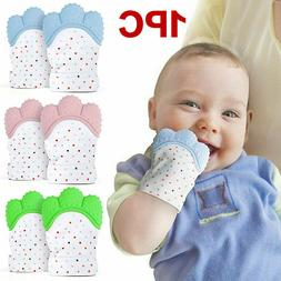 Baby Silicone Mitts Teething Mitten Glove Candy Wrapper Soun