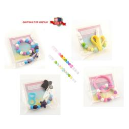 Silicone Teether Pacifier Clips Holders for Babies Infants