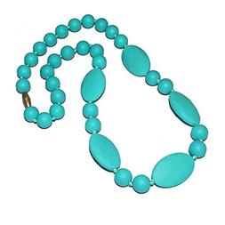 HAL Silicone Baby Teething Necklace for Mom, Round and Flat