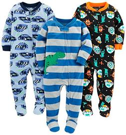 Simple Joys by Carter's Baby Boys' 3-Pack Flame Resistant Fl