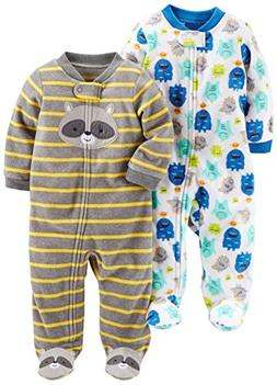 Simple Joys by Carter's Baby Boys' 2-Pack Fleece Footed Slee