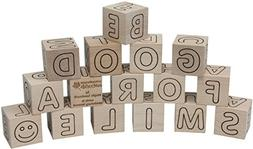 Simple Wooden ABC Blocks - Made in USA