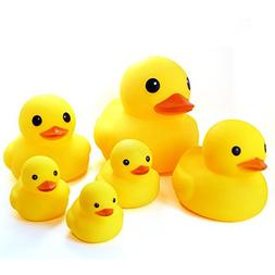 Novelty Place Float & Squeak Six Rubber Duck Family Pack Duc