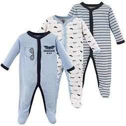 Luvable Friends Baby Cotton Snap Sleep and Play, Airplanes 3
