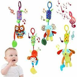 Soft Hanging Toy-Baby Infant Rattle Toys Stroller Car Seat C