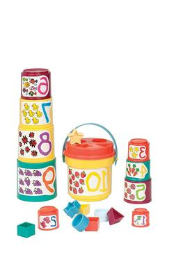 Sort & Stack - Educational Stacking Cups with Numbers and Sh