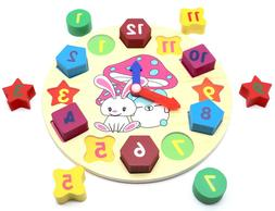 Sorting Clock - Baby Educational Wooden Clock Puzzle for Kid