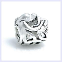 Sterling Silver Mother Baby Forever Hug Celtic Bead for Euro