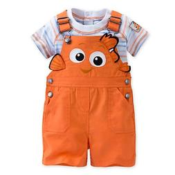 DISNEY STORE FINDING NEMO CHARACTER DUNGAREE SHORTS SET FOR