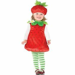strawberry costume for babies includes a romper