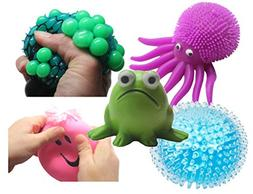 Stress Ball Bundle - Fidget Set for Students, Adults and Chi