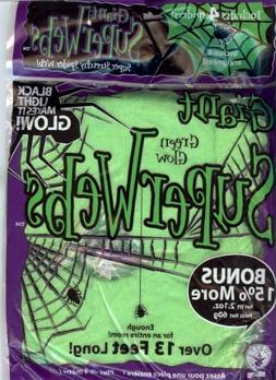 13 FEET STRETCHY - JUMBO GLOW IN THE DARK GREEN HALLOWEEN SP