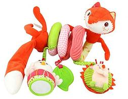 Stroller Toy Fox Bed Hanging Toys, Spiral Activity Toy Swing