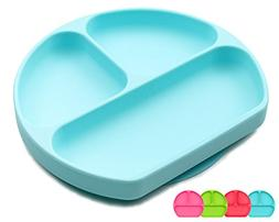 Suction Plates for Toddlers, Children, Babies, Silicone Plac