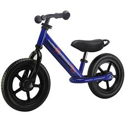 "Super Ride - 12"" Sport Balance Bike, No Pedal Push Bicycle,"