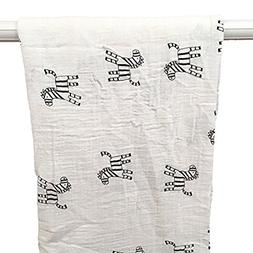 Super Soft Cotton Muslin Baby Swaddle Blankets - Perfect for