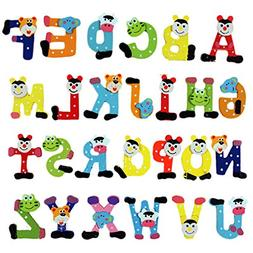 Suppershopping Wooden Magnet Mgnetic Alphabet Stickers Lette