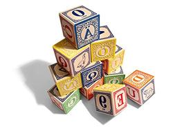 Uncle Goose Swedish ABC Blocks - Made in USA