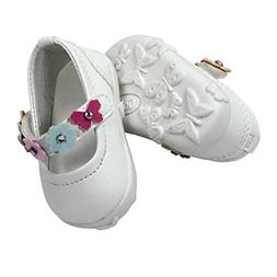 "Gotz Sweet Summer White Flower Doll Shoes for 18"" and 19.5"""