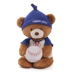 Gund Baby Teddy Bear and Rattle, Little Slugger Baseball