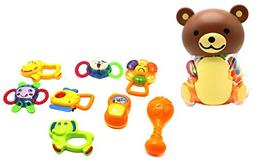Ver-Baby Baby Teether 8 Piece Teddy Bear Colorful Teething R