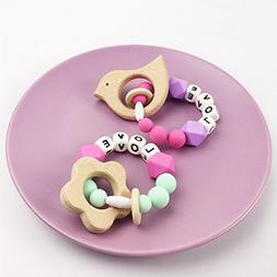 2pc Baby Teether Toys Newborn Teether Toys Infant Chewable T