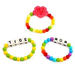 Accmor Teething Bracelet for Mom to Wear & Baby to Chew, Bra