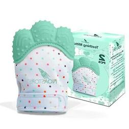 Teething Mittens for Baby Set of 2- Infant Teething, Baby Gl