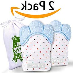 Baby Teething Mittens Self Soothing Pain Relief Mitt, Stimul
