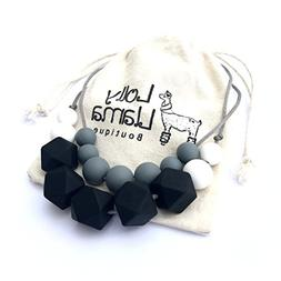 Teething Necklace for Moms by Lolly Llama - BPA FREE Silicon
