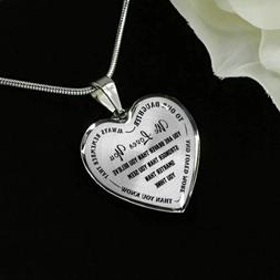 To Our Daughter Necklace - We loves You - Gifts for Teen Gir