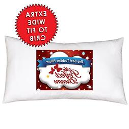 Toddler Pillow INCLUDES PILLOW CASE YOUR CHILD WILL NEVER SL